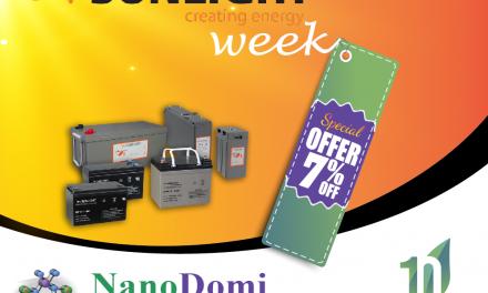 Εβδομάδα SUNLIGHT: 7% έκπτωση & Διπλή Συμμετοχή στο Διαγωνισμό 10+1 χρόνια NanoDomi