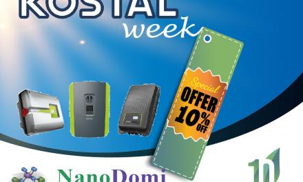 Εβδομάδα KOSTAL: 10% έκπτωση & Διπλή Συμμετοχή στο Διαγωνισμό 10+1 χρόνια NanoDomi