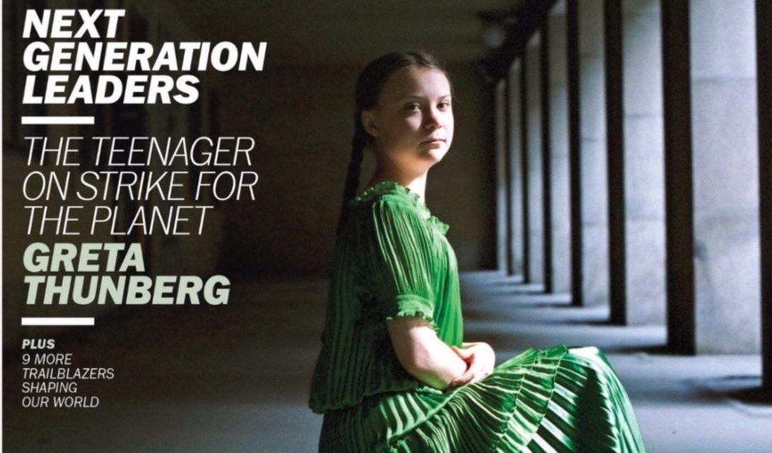 """Γκρέτα Τούνμπεργκ, πρόσωπο της χρονιάς του """"TIME"""""""