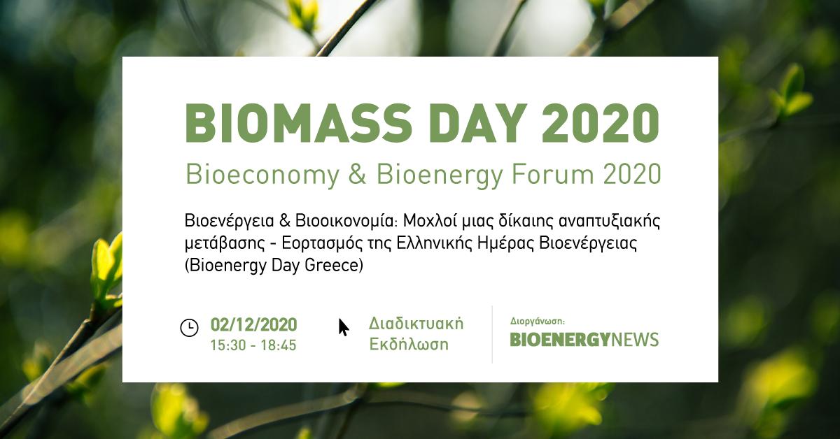 Ημερίδα BIOMASS DAY 2020   Bioeconomy & Bioenergy Forum 2020
